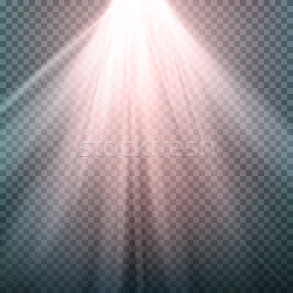 Glow Light Effect. Beam Rays Vector. Sunlight Special Lens Flare Light Effect. Isolated On Transpare Stock photo © pikepicture