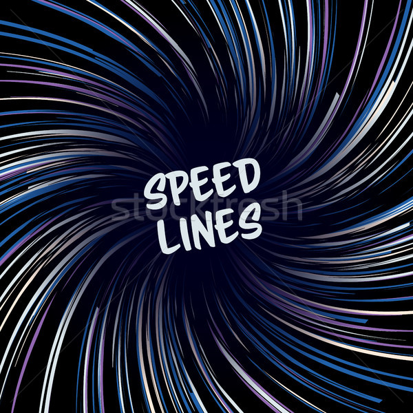 Manga Speed Lines Vector. Layout For Comic Books. Banner With Radial Colored Effect Illustration. St Stock photo © pikepicture