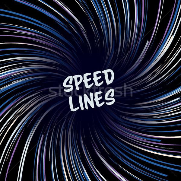 Manga prędkości linie wektora układ komiks Zdjęcia stock © pikepicture