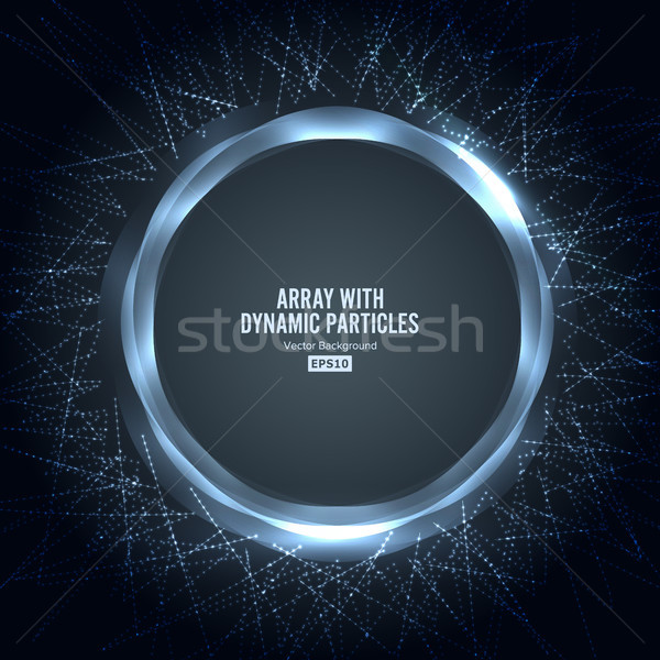 Vector dinámica partículas forma gráfico Foto stock © pikepicture