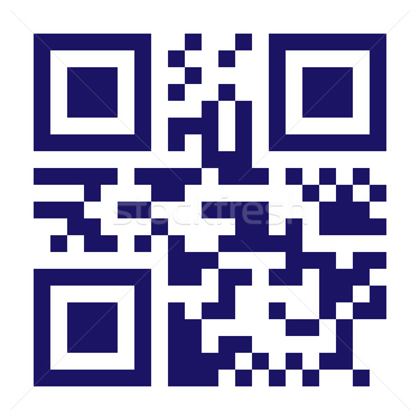New Technology Barcode QR Code Vector. Classic QR Code Vector. Black And White Monochrome Illustrati Stock photo © pikepicture