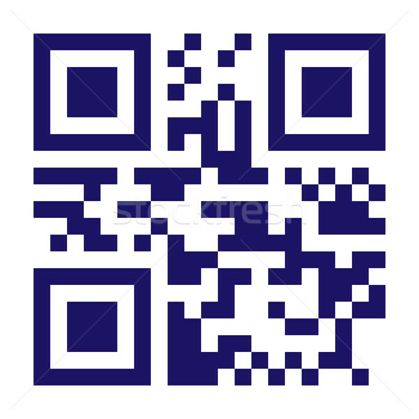Nowego technologii kodów kreskowych qr code wektora klasyczny Zdjęcia stock © pikepicture