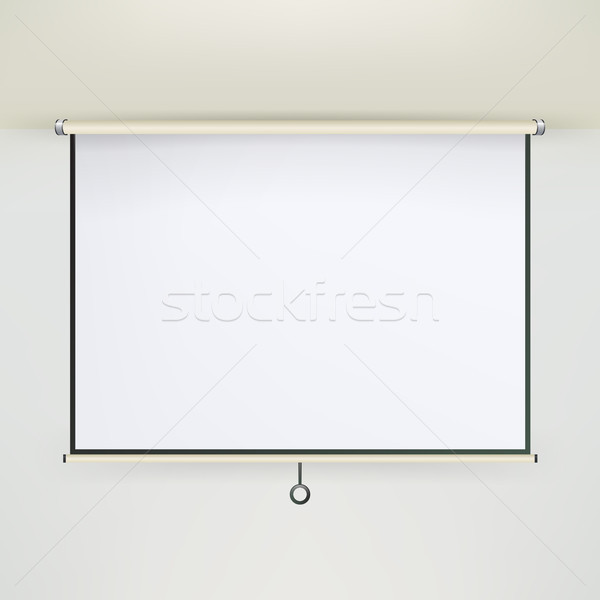 Meeting Projector Screen Vector. Stock photo © pikepicture