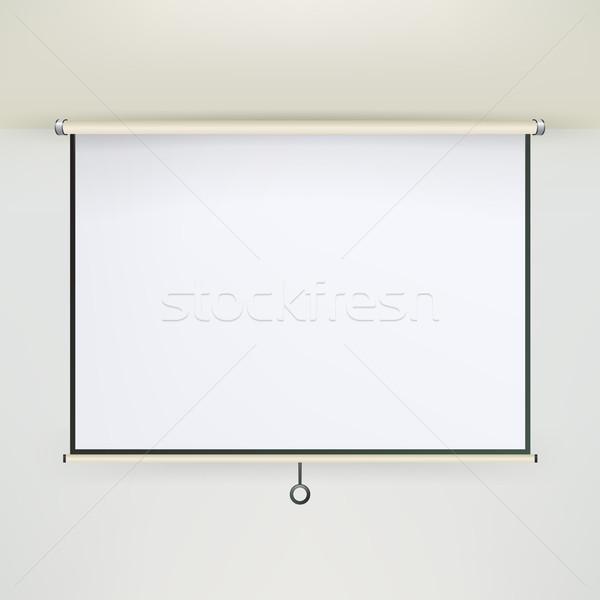 Toplantı projektör ekran vektör boş beyaz tahta Stok fotoğraf © pikepicture