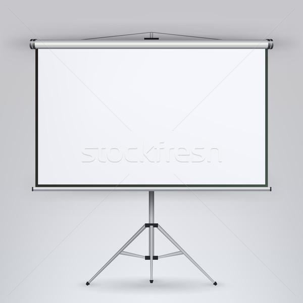 Megbeszélés projektor képernyő vektor fehér tábla bemutató Stock fotó © pikepicture