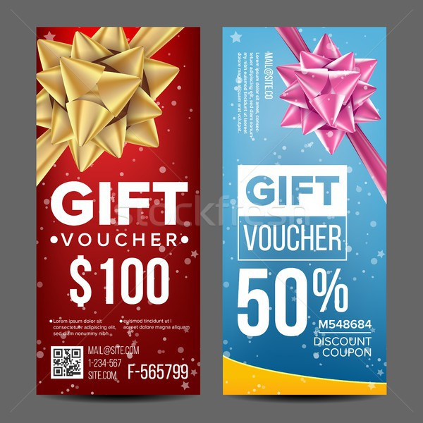 Voucher Coupon Template Vector. Vertical Leaflet Offer. Promotion Advertisement. Special Offer. Free Stock photo © pikepicture