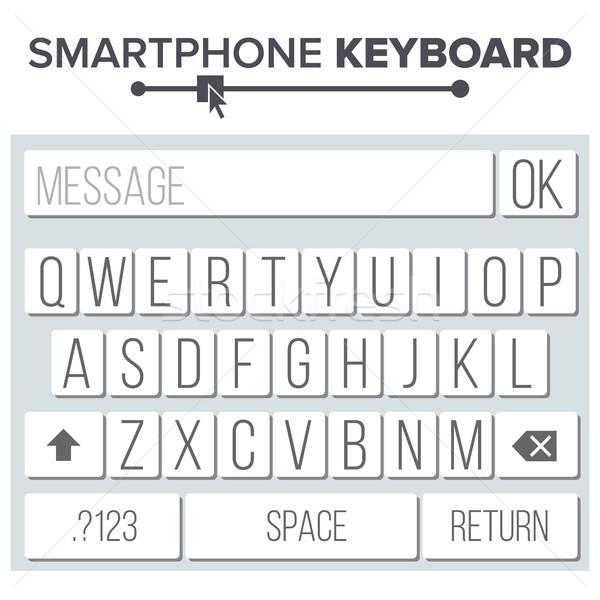 Okostelefon billentyűzet vektor ábécé gombok mobil Stock fotó © pikepicture