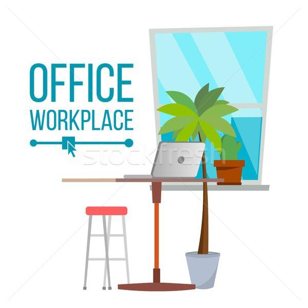 Kantoor werkplek vector meubels ontwikkelaar creatieve Stockfoto © pikepicture