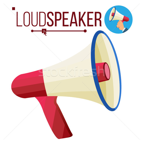 Loudspeaker Icon Vector. Megaphone, Bullhorn Symbol. Promotion, Advertising Banner Design Element. I Stock photo © pikepicture