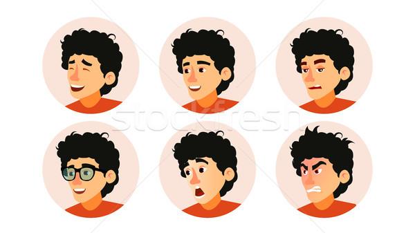 Karakter üzletemberek avatar vektor fejlesztő tini Stock fotó © pikepicture