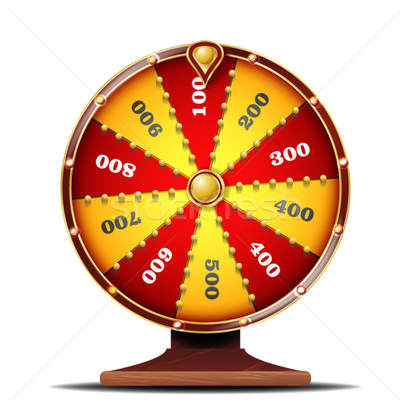 Fortune Wheel Vector. Luck Sign. Gamble Chance Leisure. Isolated On White Background Illustration Stock photo © pikepicture