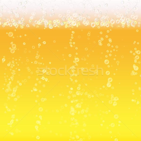 Foto stock: Cerveja · espuma · luz · brilhante · bolha · líquido