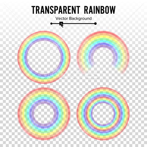 радуга круга элемент вектора набор цвета Сток-фото © pikepicture