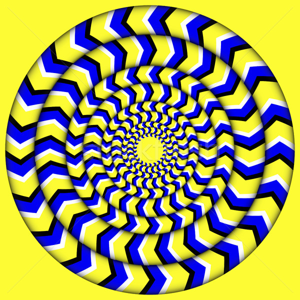 Hypnotic Of Rotation. Perpetual Rotation Illusion. Background With Bright Optical Illusions of Rotat Stock photo © pikepicture