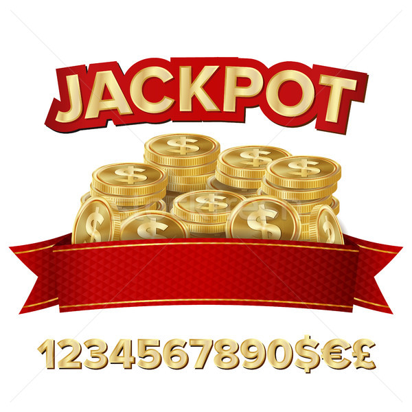 Jackpot isolé vecteur brillant bannière illustration Photo stock © pikepicture