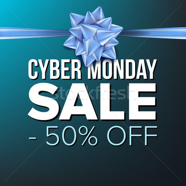 Cyber Monday Sale Banner Vector. Vector. Crazy Discounts Poster. Business Advertising Illustration.  Stock photo © pikepicture