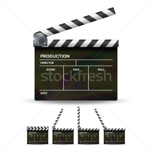 совета вектора черный кино изолированный белый Сток-фото © pikepicture