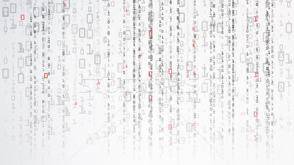 Binary Cyberspace Background. Coding Or Hacker Concept. Matrix Style. Vector Illustration Stock photo © pikepicture