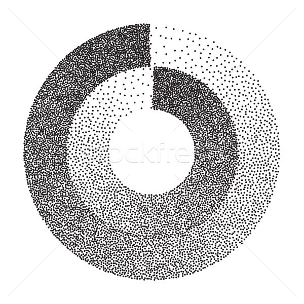 Abstract Geometric Shape Vector. Black Dotted Round Circle. Noise, Grunge Texture. Halftone Backgrou Stock photo © pikepicture