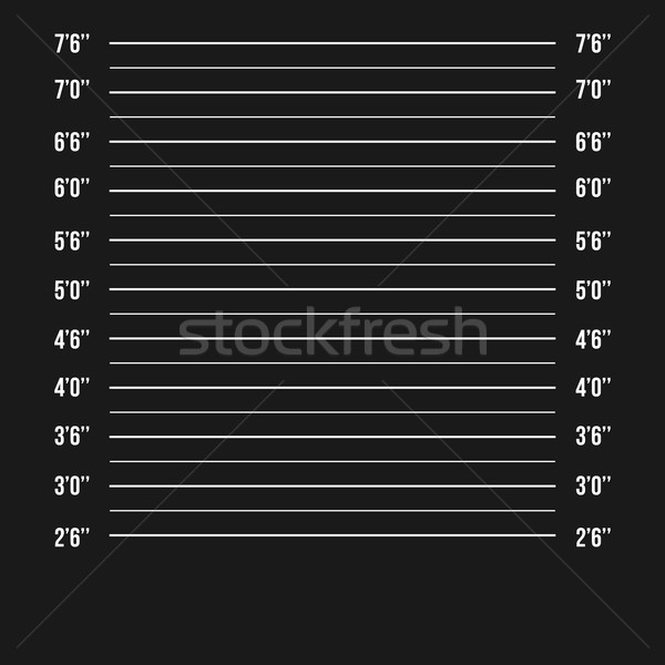 Mugshot Police Vector. Police Mugshot Lineup Isolated. Prison Background. Vector Illustration Stock photo © pikepicture