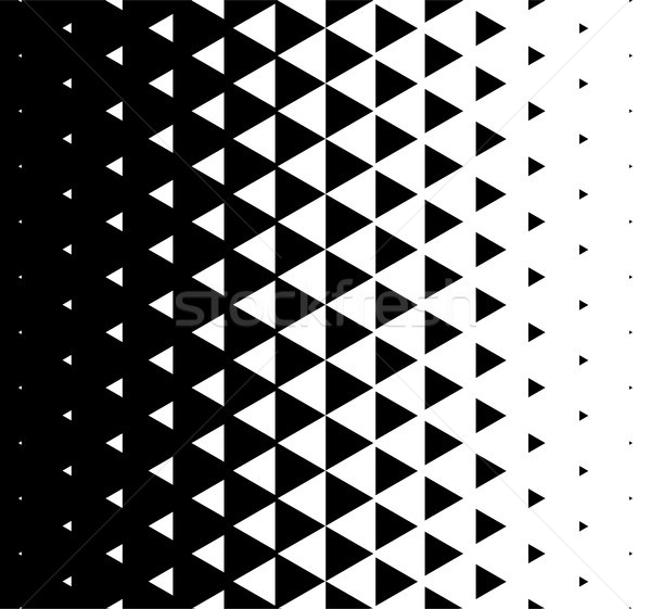 Halftone Triangular Pattern Vector. Abstract Monochrome Geometric Triangle Pattern Design Background Stock photo © pikepicture