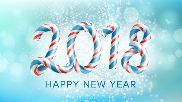 Gelukkig nieuwjaar vector flyer brochure ontwerpsjabloon decoratie Stockfoto © pikepicture