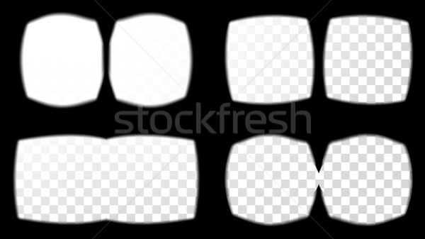 Virtual Reality Glasses Sight View Vector. Set Screen Frame Template. Different Types. Design 3D VR  Stock photo © pikepicture