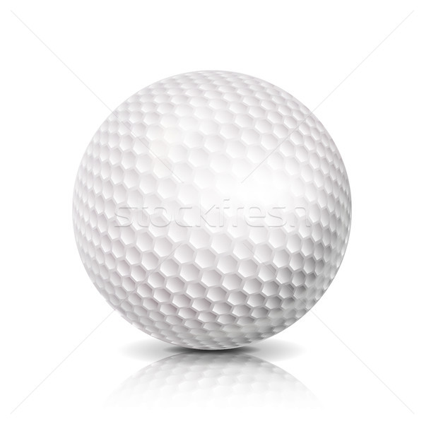 Golf Ball. 3D Realistic Vector Illustration Stock photo © pikepicture