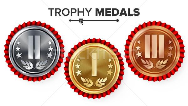 Altın gümüş bronz yer rozet madalya Stok fotoğraf © pikepicture