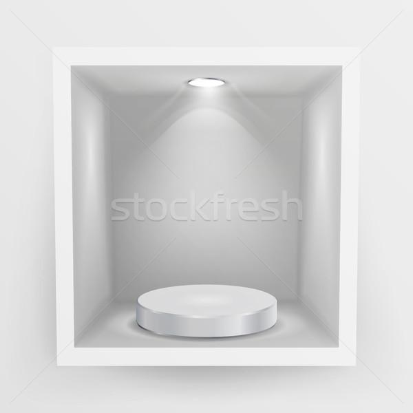 Vide niche vecteur propre plateau montrent Photo stock © pikepicture