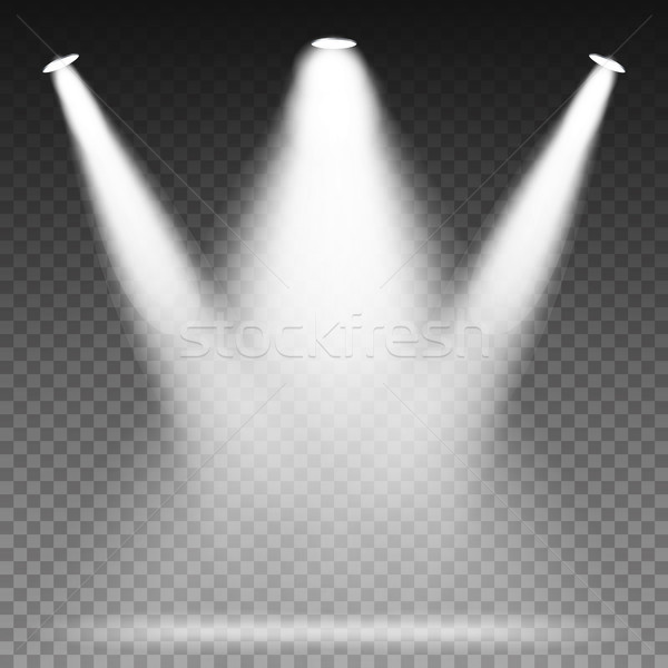 White Beam Lights Spotlights Vector. Scene. Light Effects. Stock photo © pikepicture