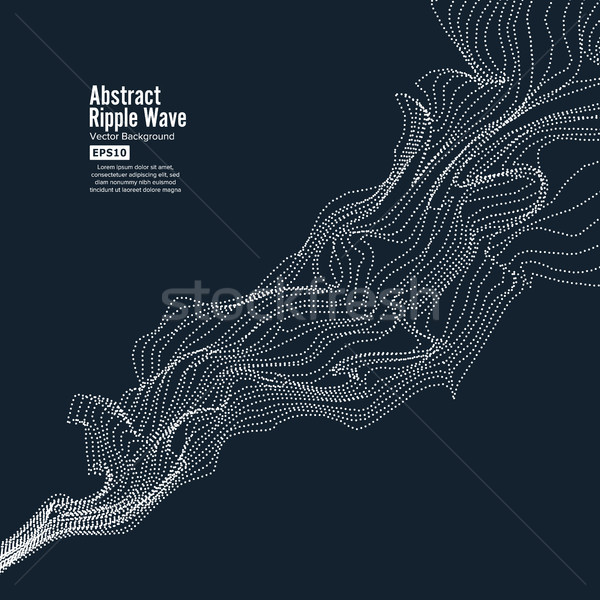 Wave Background. Ripple Grid. Modern Vector Illustration. Element Of Design Stock photo © pikepicture
