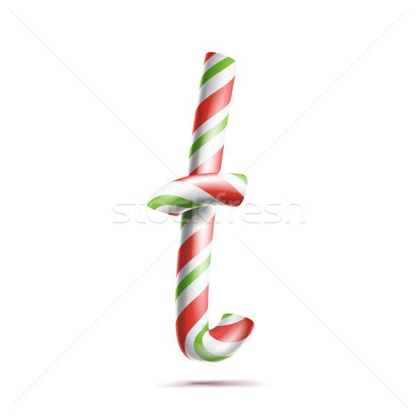 Vektor 3D realistisch candy Zuckerrohr Stock foto © pikepicture