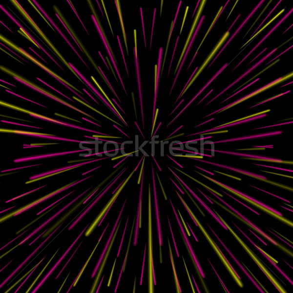 Space Vortex Vector. Abstract Background With Star Warp, Stars Burst Or Hyperspace. Stock photo © pikepicture