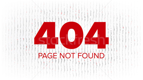 404 Error Web Page Vector. Oops Error Page Template. Network Trouble. Problem Screen Concept Illustr Stock photo © pikepicture