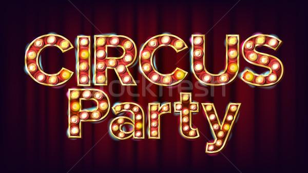 Circo party banner segno vettore tradizionale Foto d'archivio © pikepicture