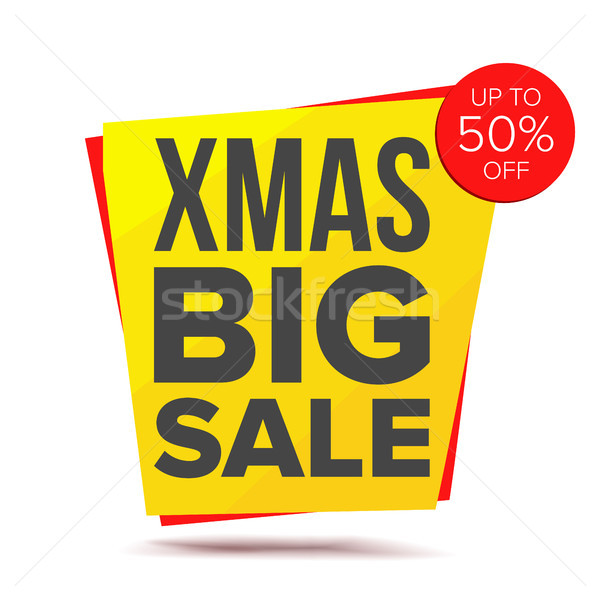 Big Xmas Discount Sale Banner Vector. Big Super Sale. Isolated On White Illustration Stock photo © pikepicture