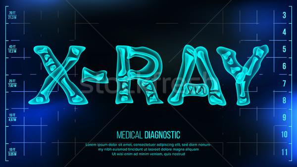 Röntgen szalag vektor orvosi átlátszó szöveg Stock fotó © pikepicture