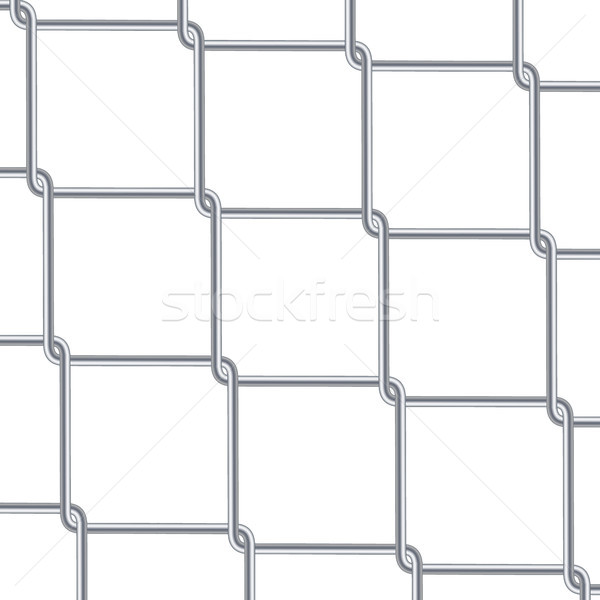 Chain Link Fence Background. Industrial Style Wallpaper. Realistic Geometric Texture. Steel Wire Wal Stock photo © pikepicture