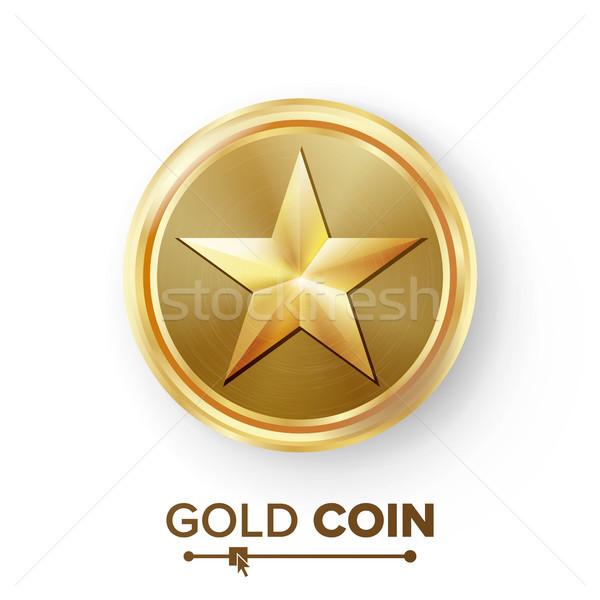 ゲーム 金貨 ベクトル 星 現実的な ストックフォト © pikepicture