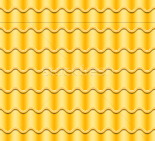 Yellow Corrugated Tile Vector. Seamless Pattern. Classic Ceramic Tiles Cover. Fragment Of Roof Illus Stock photo © pikepicture