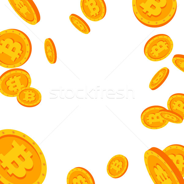 Bitcoin relevant explosion vecteur cartoon pièces d'or Photo stock © pikepicture
