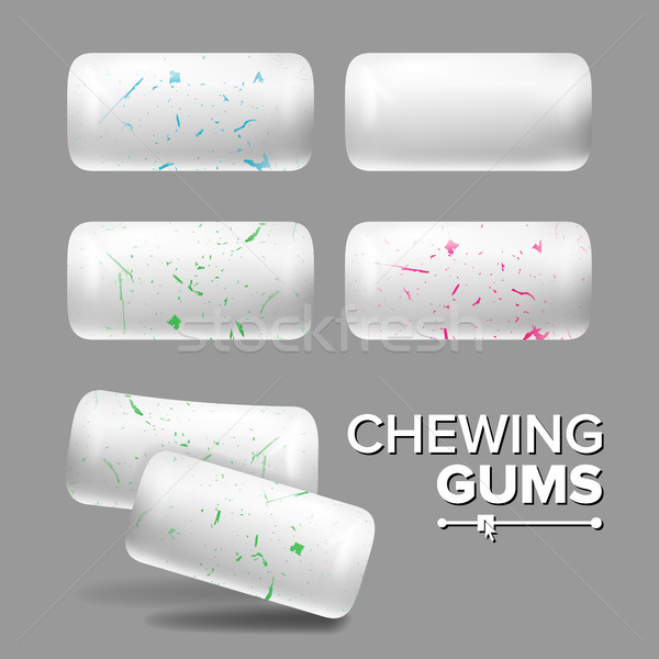 Realistic Chewing Gum Vector. Isolated Illustration Stock photo © pikepicture
