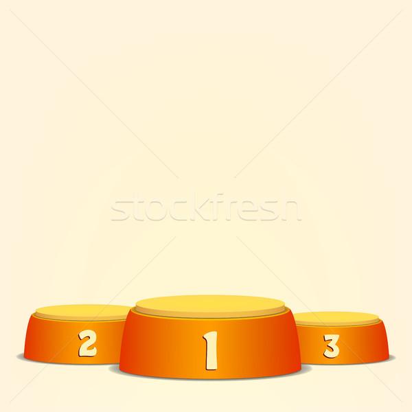 Vide vecteur podium gagnants première deuxième Photo stock © pikepicture