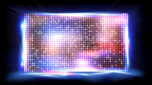 Scherm vector display projectie stadion fase Stockfoto © pikepicture