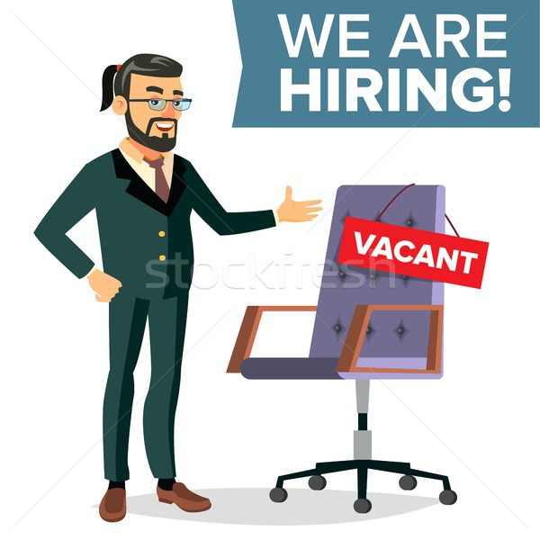 Recruitment Process Vector. Human Resources, Career. Businessman Choice Of Employee. Office Chair, W Stock photo © pikepicture