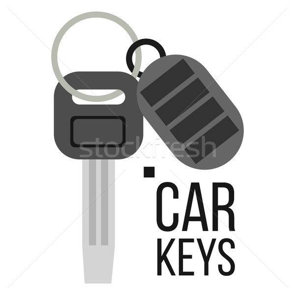 Keys Car Vector. Icon Of Auto Key. Keychain Lock Sign. Isolated Flat Illustration Stock photo © pikepicture