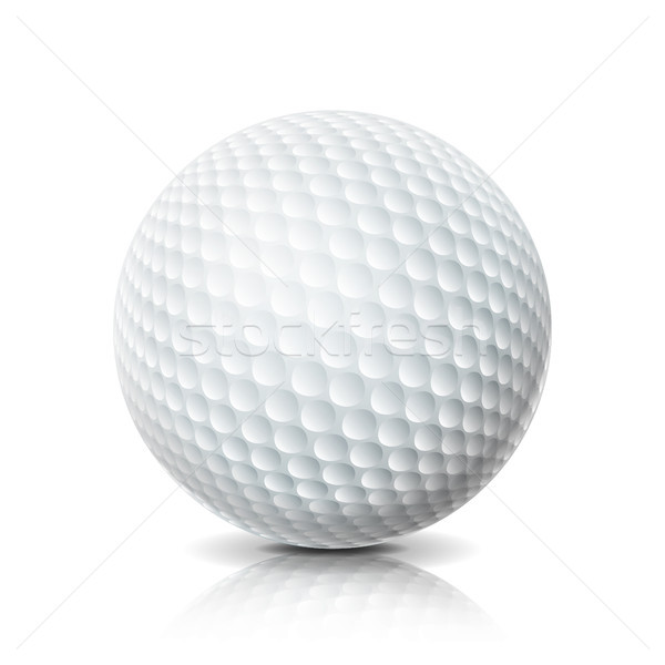 274e42b1 #8423503 Realistic Golf Ball Isolated On White Background.  Three-dimensional. Vector Illustration. by ...