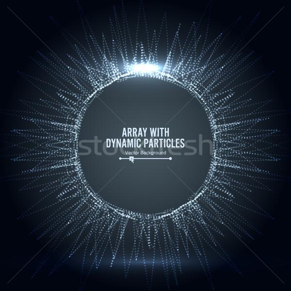 Vetor salpico partículas grande dados Foto stock © pikepicture