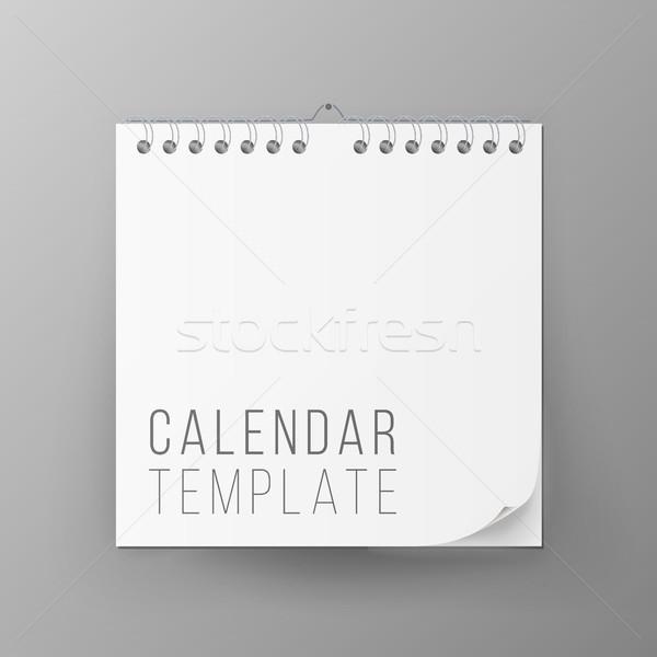Stockfoto: Spiraal · kalender · vector · kantoor · omhoog · realistisch
